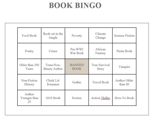 book bingo 2019