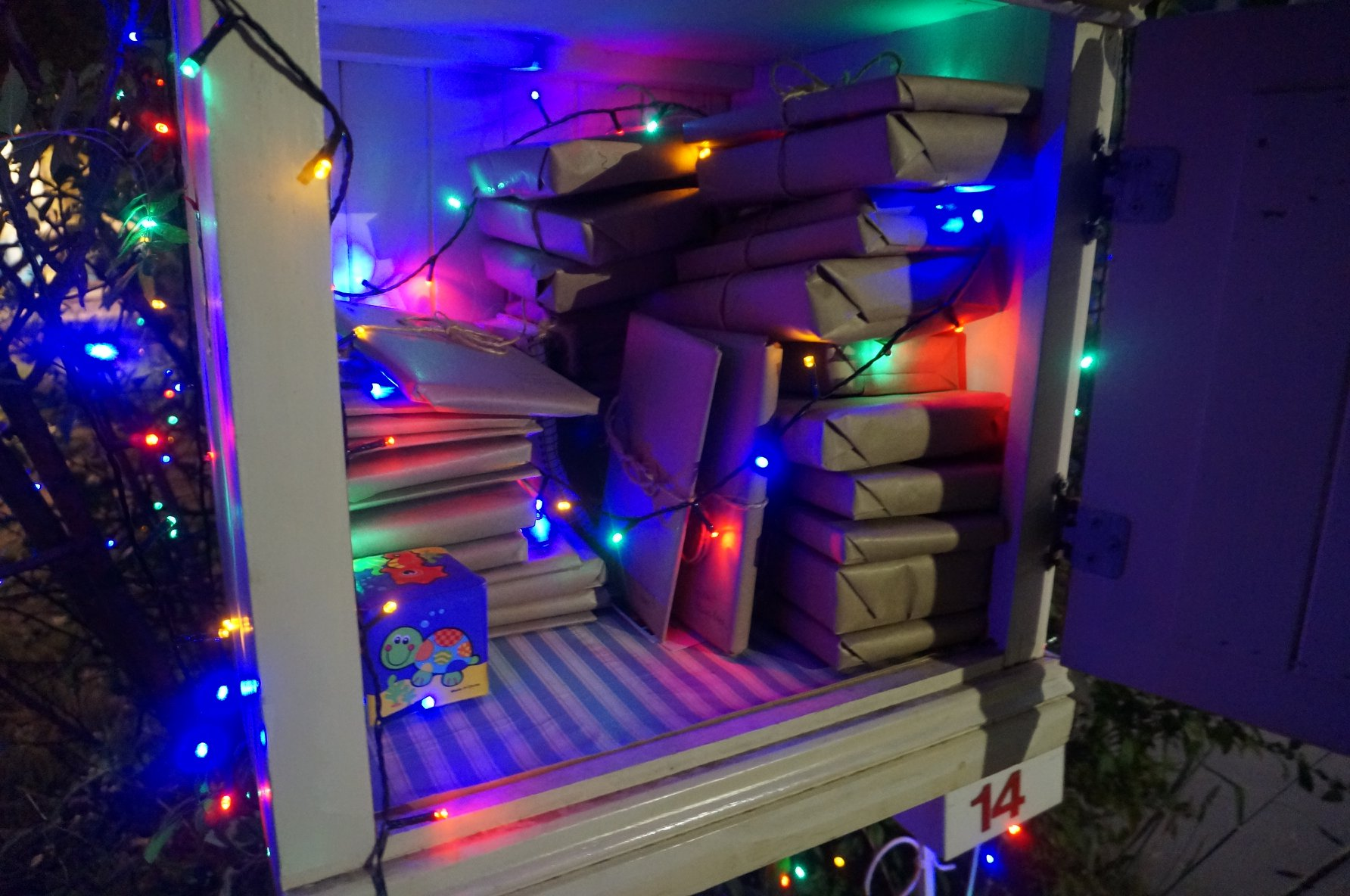 christmas street library